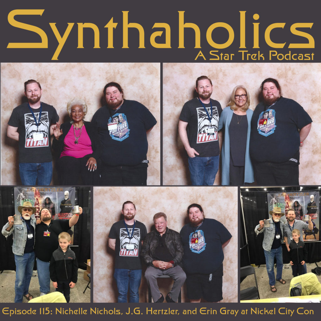 Synthaholics Episode 115: Nichelle Nichols, J.G. Hertzler, and Erin Gray at Nickel City Con
